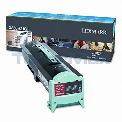LEXMARK X850E TONER CARTRIDGE BLACK